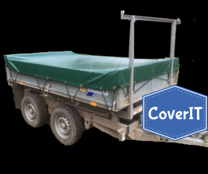 Ifor Williams TT85 standard cover with ladder rack