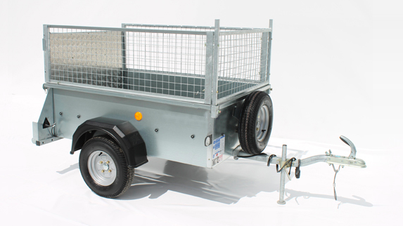 P range trailer with mesh kit and ramp tailgate