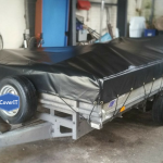 Ifor Williams LM146 Standard trailer cover in black