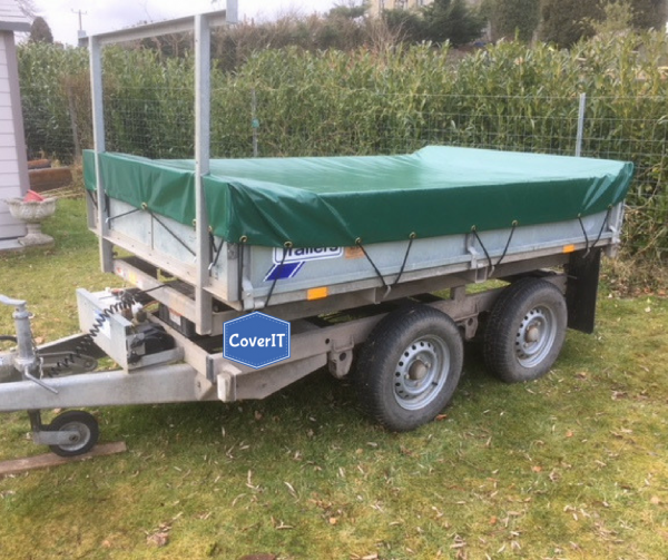 Ifor Williams TT85/TT2515 with inset ladder rack In green