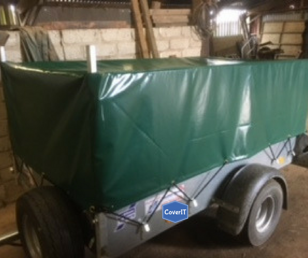 Ifor Williams P7e mesh side trailer cover In green