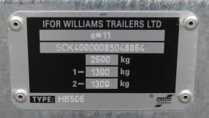 Ifor Williams chassis plate
