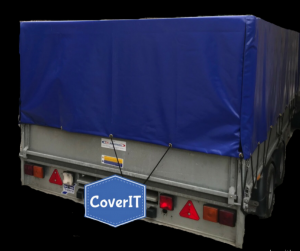 Ifor Williams trailer cover with Velcro opening back