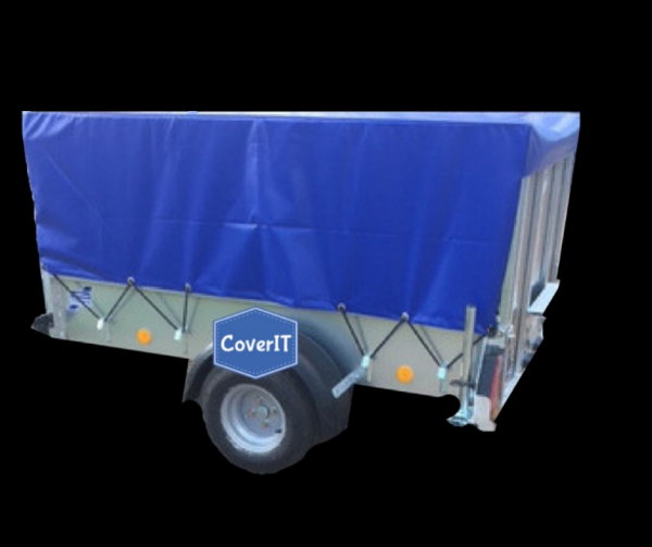 Ifor Williams P6e mesh side cover, ramp tailgate, no ladder rack