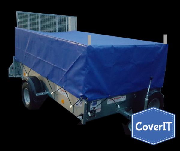 Ifor Williams P8e mesh side cover, extended ramp, ladder rack