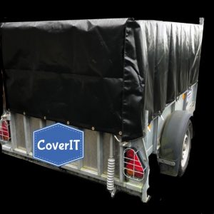Ifor Williams GD85 mesh side cover-rear view